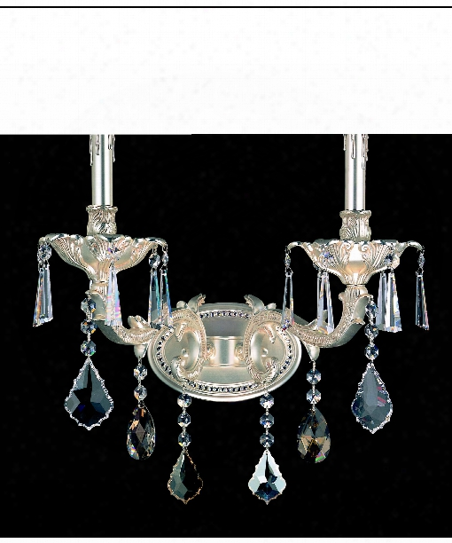 Marcello 2 Light Wall Sconce In Antique Silver
