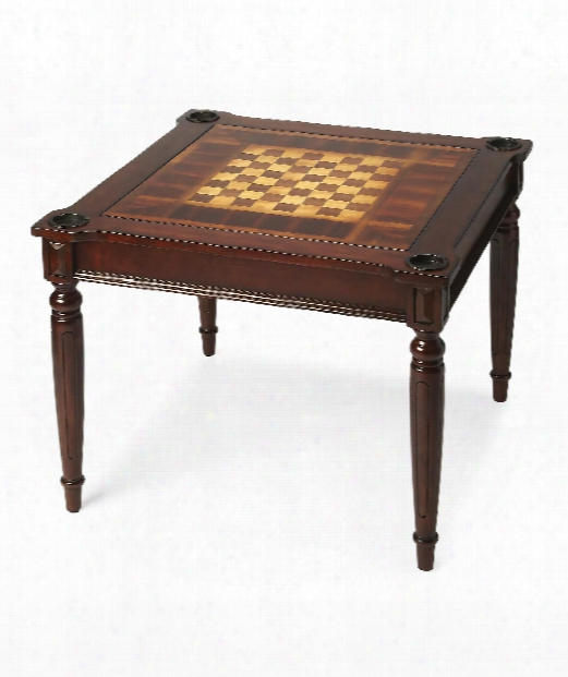 """Masterpiece 36"""" Accent Table In Plantation Cherry"""