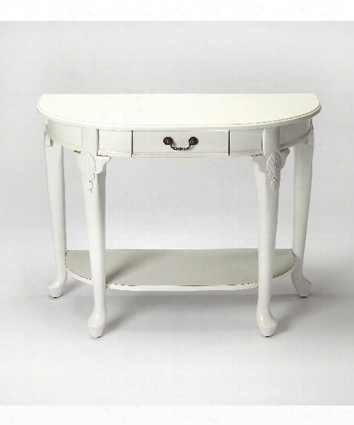 "Masterpiece 36"" Console Table In Cottage White"