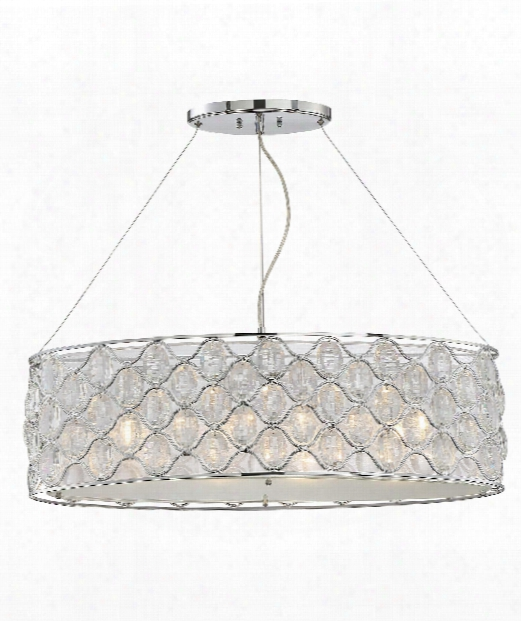 "Opus 12"" 4 Light Island Light In Chrome-polished Nickel"