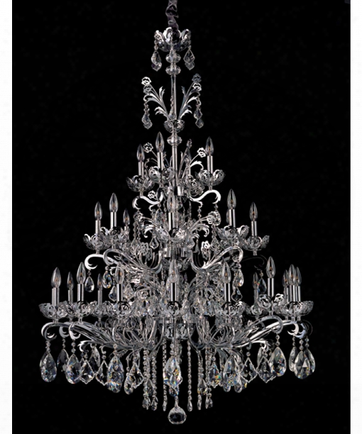 Salieri 28 Light Cchandelier In Polished Chrome