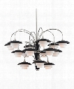 "Barron 39"" 15 Light Chandelier in Polished Nickel"