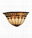 "Diamond Ring 14"" 2 Light Wall Sconce in Burnished Copper"