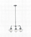 "Fairfield 26"" 3 Light Chandelier in Chrome"