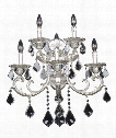 "Rafael 21"" 5 Light Wall Sconce in Two-Tone Silver"