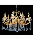 Rafael 9 Light Chandelier in Two-Tone Gold-24K
