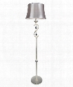 "Scarlatti 16"" 1 Light Floor Lamp in Two-Tone Silver"