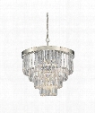 "Tierney 25"" 6 Light Large Pendant in Polished Nickel"