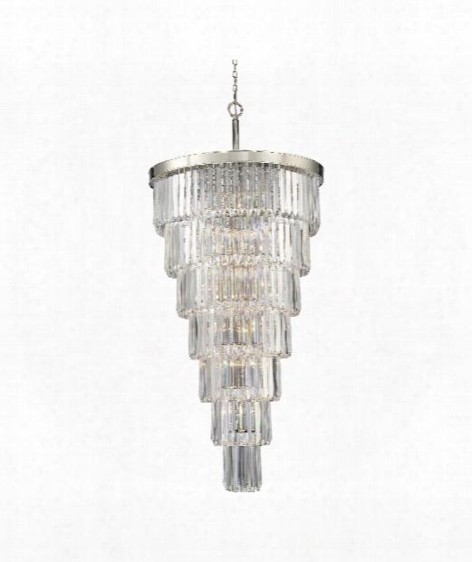 "Tierne Y33"" 19 Light Large Pendant In Polished Nickel"
