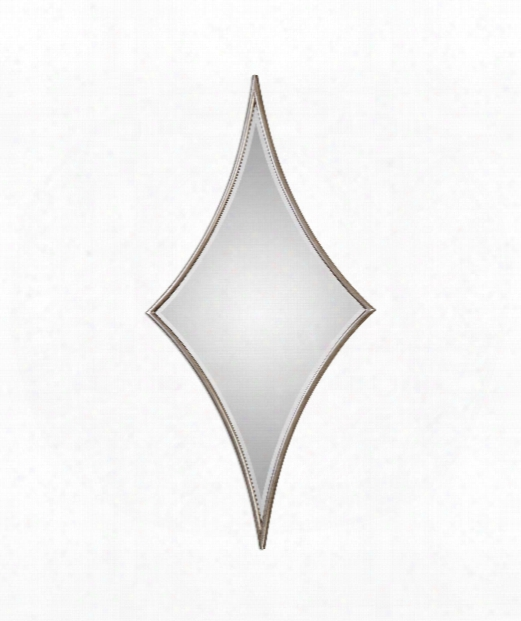 "Vesle 30"" Wall Mirror In Lightly Antiqued Silver Leaf"
