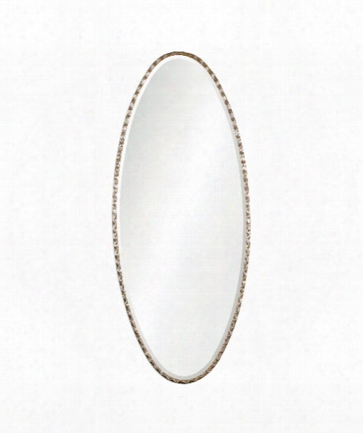 "Vicenza 25"" Wall Mirror In Antiqued Silver Leaf"