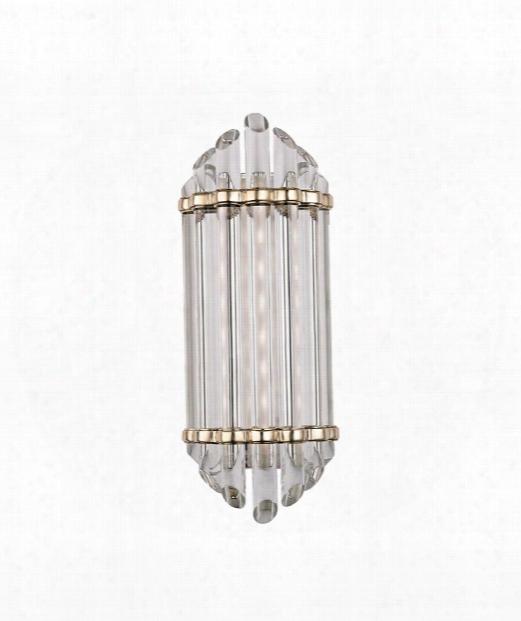 "Albion 7"" Led 8 Light Bath Vanity Light In Aged Brass"