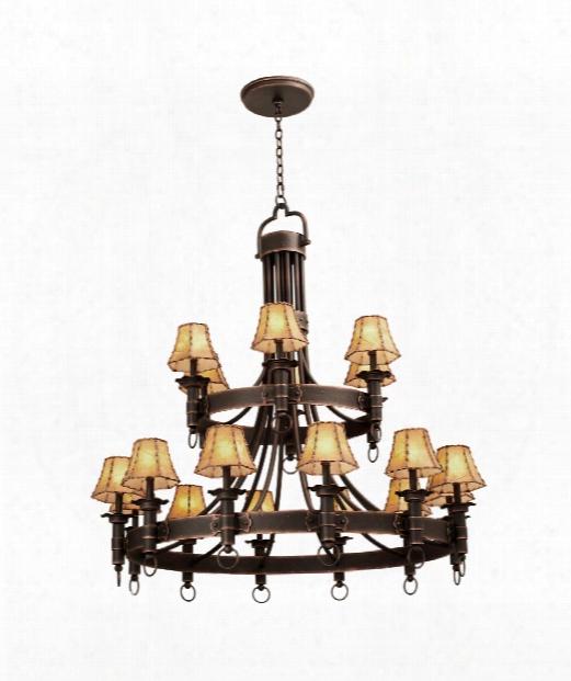 Americana 18 Light Chandelier In Antique Copper