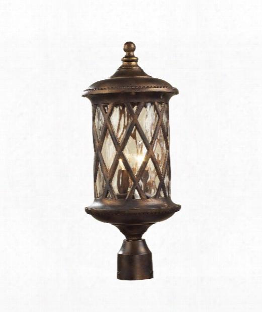 "Barrington Gate 9"" 2 Light Outdoor Outdoor Post Lamp In Hazelnut Bronze"
