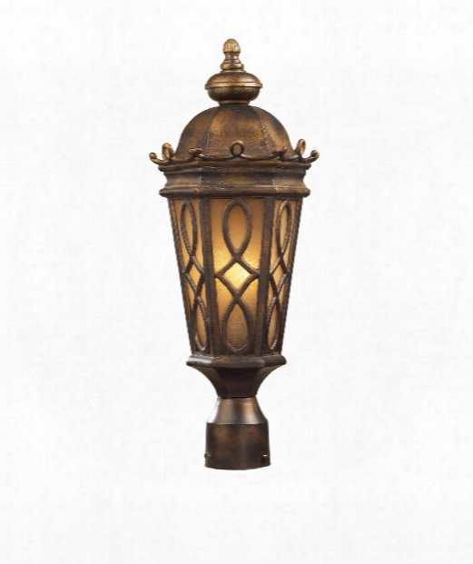 "Burlington Junction 9"" 2 Light Outdoor Outdoor Post Lamp In Hazelnut Bronze"