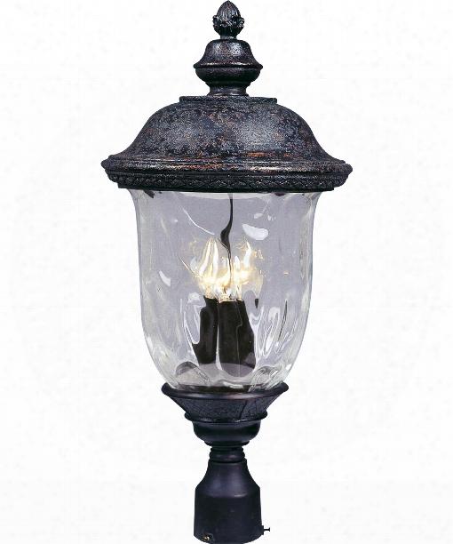 "Carriage House Vx 13"" 3 Light Outdoor Outdoor Post Lamp In Oriental Bronze"