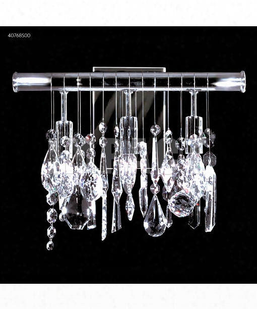 """Contemporary 14"""" 3 Light Wall Sconce In Silver"""