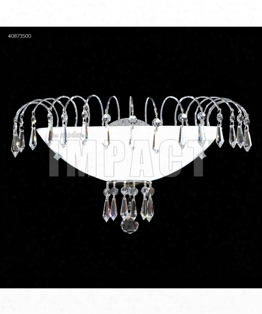 "Crystal Rain 10"" 1 Light Wall Sconce In Silver"