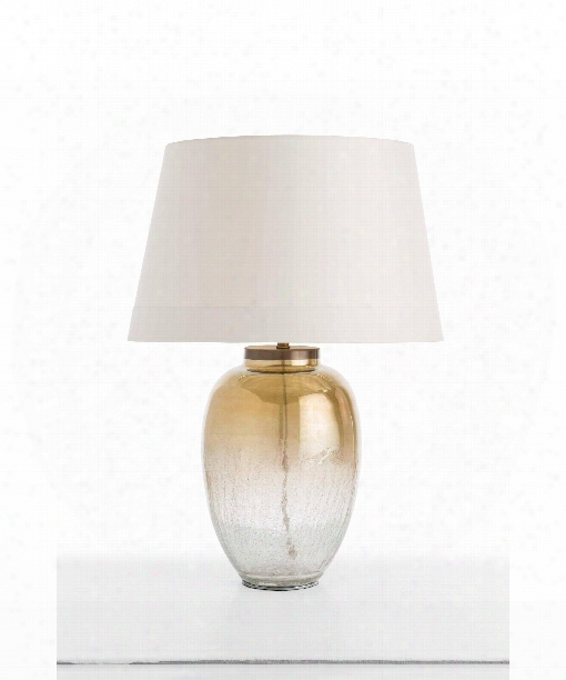 "Diane 19"" 1 Light Table Lamp In Smoke Luster-antique Brass"