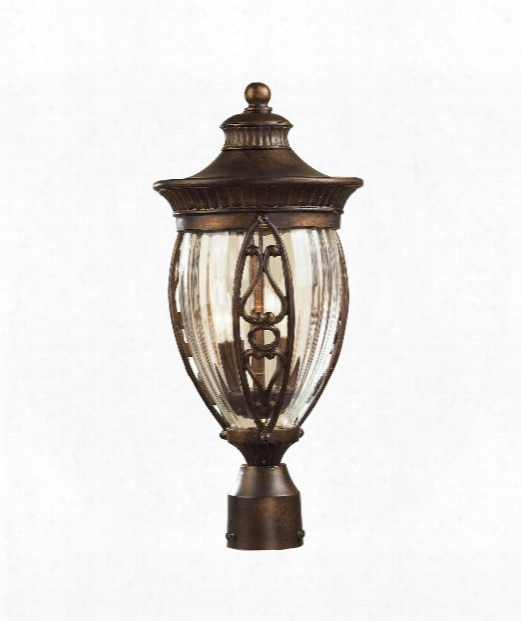 "Essex Way 9"" 2 Light Outdoor Outdoor Post Lamp In Hazelnut Bronze"