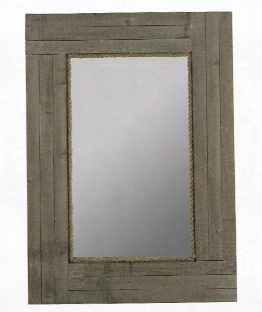 "Hatteras 30"" Wall Mirror In Driftwood Gray Wash"