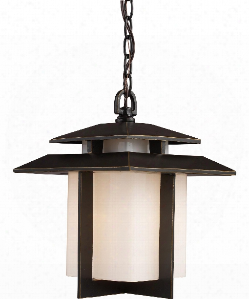 "Kanso 10"" 1 Light Outdoor Outdoor Hanging Lantern In Hazelnut Bronze"