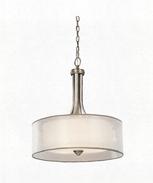 """Lacey 20"""" 4 Light Large Pendant In Antique Pewter"""