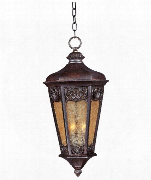 "Lexington 14"" 3 Ligh Toutdoor Hanging Lantern In Colonial Umber"