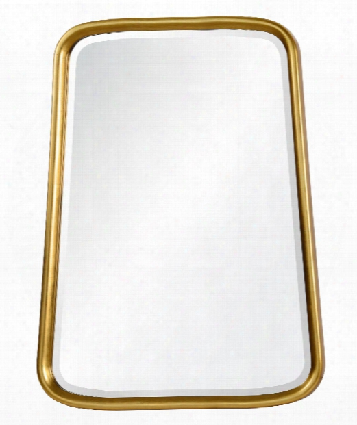 """Liam 30"""" Wall Mirror In Gold"""