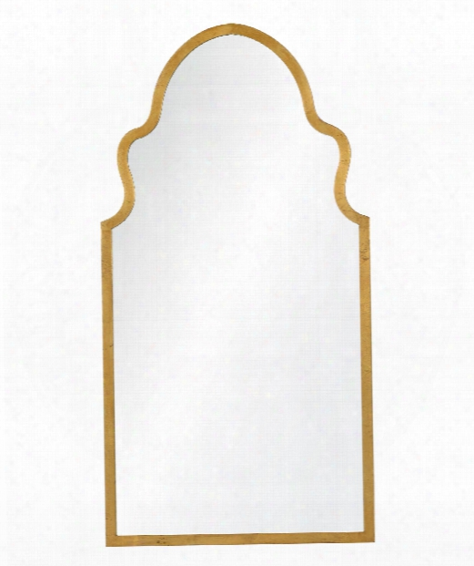 """Lincoln 20"""" Wall Mirror In Textured Gold Leaf"""