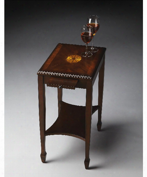"""Masterpiece 12"""" End Table In Plantation Cherry"""