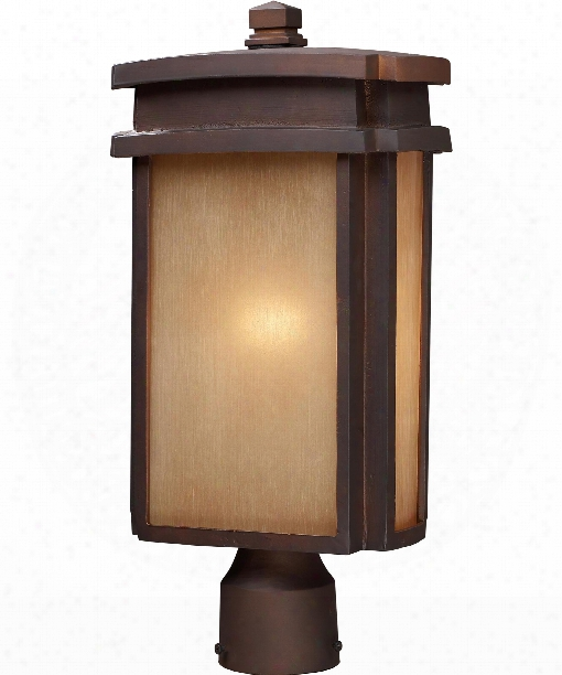 "Sedona 9"" 1 Light Outdoor Outdoor Post Lamp In Clay Harden"
