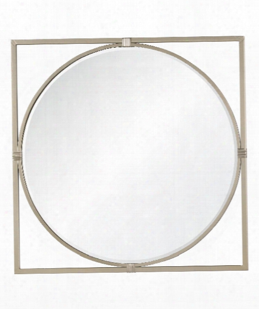 "Shelley 36"" Wall Mirror In Silver"