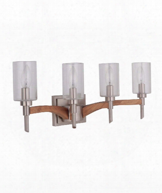"Tahoe 23"" 4 Light Bath Vanity Light In Brushed Nickel-whiskey Barrel"