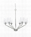 "Camden 30"" 6 Light Chandelier in Polished Nickel"