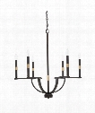 "Cole 28"" 6 Light Chandelier in Aged Brass & Old Bronze"