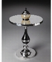 Modern Expressions Accent Table in Nickel Plated