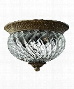 "Plantation 12"" 2 Light Flush Mount in Pearl Bronze"