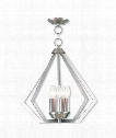 "Prism 20"" 5 Light Large Pendant in Brushed Nickel"