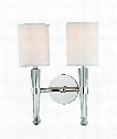 "Volta 12"" 2 Light Wall Sconce in Polished Nickel"