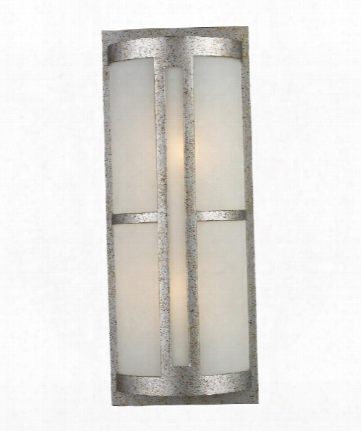 "Trevot 9"" 2 Light Outdoor Outdoor Wall Light In Sunset Silver"