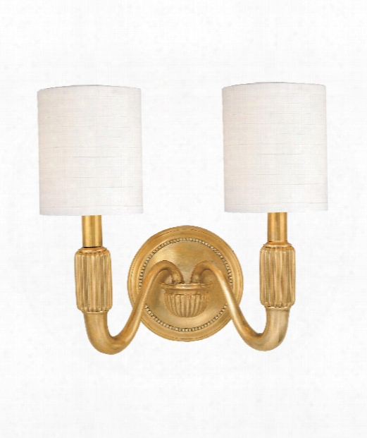 """Tuilerie 15"""" 2 Light Wall Sconce In Aged Brass"""