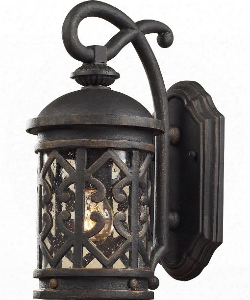 "Tuscany Coast 7"" 1 L Ight Outdoor Outdoor Wall Light In Weathered Charcoal"