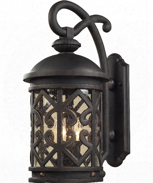 "Tuscany Coast 9"" 2 Light Outdoor Outdoor Wall Light In Weathered Charcoal"