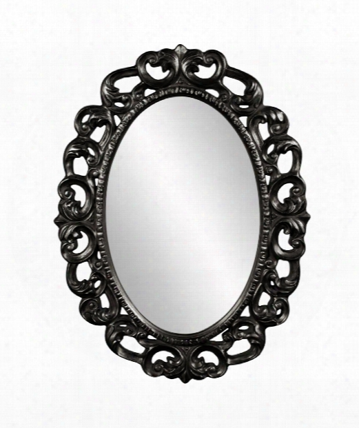 "Ansel 34"" Wall Mirror In Black"