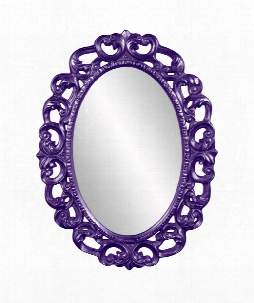 "Ansel 34"" Wall Mirror In Imperial Purple"