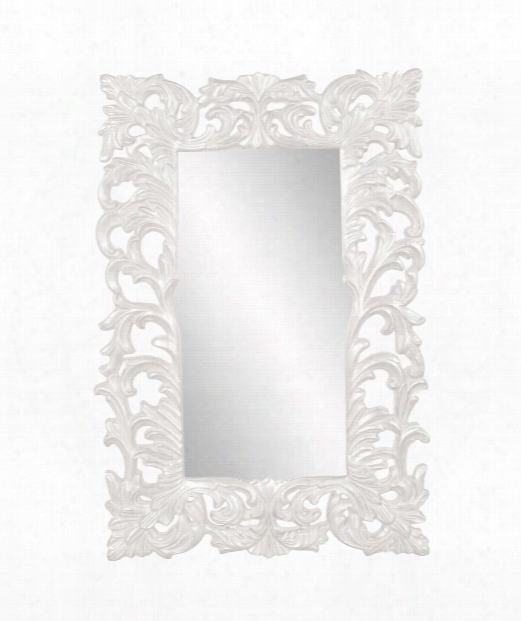 "Augustus 46"" Wall Mirror In White"
