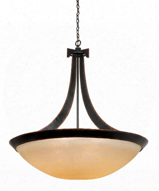 Copenhagen 6 Light Large Pendant In Antique Copper