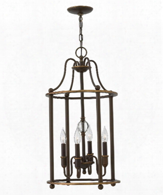 "Elaine 14"" 4 Light Mini Chandelier In Light Oiled Bronze"