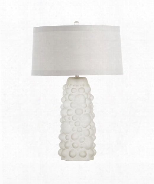 "Ezra 17"" 1 Light Table Lamp In White Frosted"